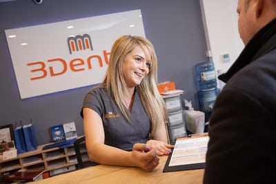 3Dental Limerick - Reception area - blonde girl