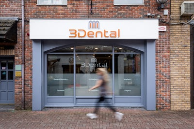 3Dental Limerick - exterior of clinic - girl walking