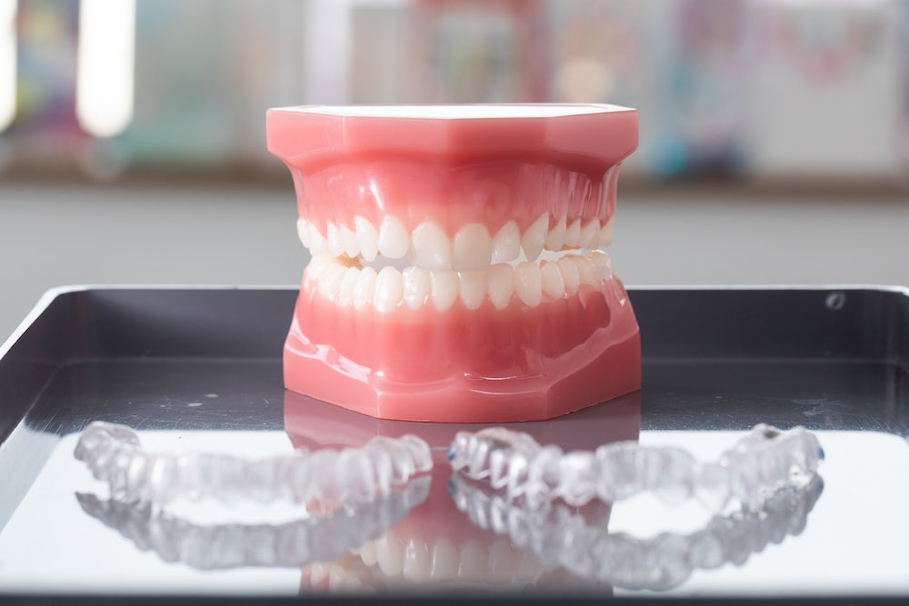 teeth with set of aligners