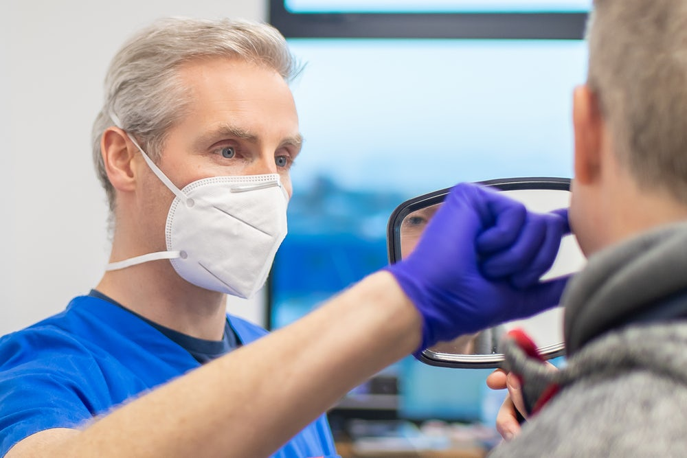 Dr. Peter Doherty in surgery at 3Dental